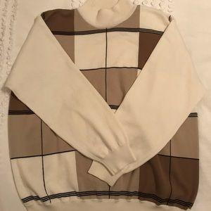 cream mock neck sweater